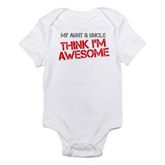 Aunt and Uncle Awesome Infant Bodysuit #onesie #gift #baby #aunt #uncle