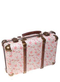 Sass & Belle Vintage Rose Floral Suitcase - storage - Home, Lighting & Furniture