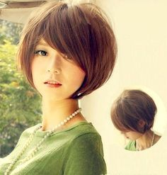 I really like how the bangs are cut on this bob.  So much lift on the top too.