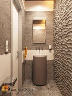 Дизайн интерьера санузла в зоне ресепшн