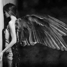 Sad Wings of Destiny. Angels Among Us, Angels And Demons, Fallen Angels, Ange Demon, Broken Wings, Come Fly With Me, Black Angels, Black Angel Wings, Angel Art