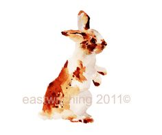 Home › eastwitching › Bunnies  BUNNY Watercolor Print 8x10 inches
