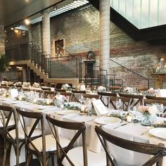 A New Leaf // chicago wedding venue, chicago wedding, loft, industrial, rustic, exposed brick, staircase