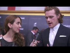 *NEW* Video Interview of Caitriona Balfe and Sam Heughan with Justine Browning at the NY Premiere.