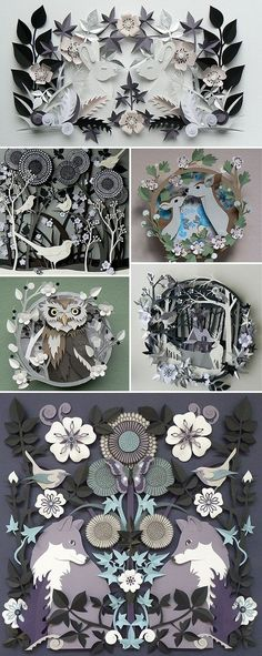 Wonderful papercuts from Helen Musselwhite  For more see helenmusselwhite.co.uk/blog/