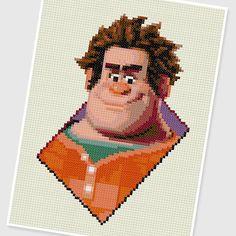 PDF Cross Stitch pattern - Ralph (Wreck It Ralph) - INSTANT DOWNLOAD