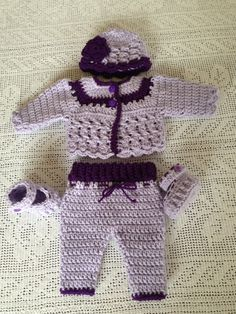 A personal favorite from my Etsy shop https://www.etsy.com/listing/221671321/baby-booties-baby-cardigan-baby-crochet