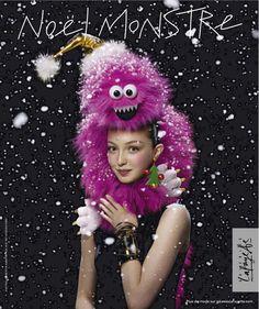 Galeries Lafayette - Noël Monstre Galeries Lafayette, Advertising, Ads, Fashion Brands, Crochet Hats, Creative, Inspiration, Jewelry, Possession