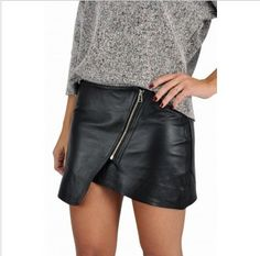 Saia de couro assimetrica Style Market http://www.stylemarket.com.br/novidades/saia-de-couro-assimetrica-by-nv.html#.UYKzb5V9ndk