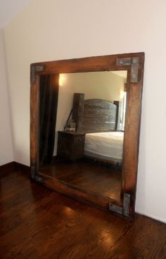 Rustic Elements Furniture...Rustic Over Sized Mirror