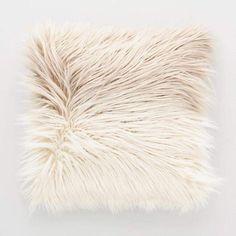 Mocha Ombre Mongolian Faux Fur Throw Pillow