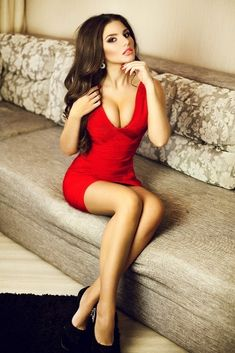 Cleavage in a Red Dress....Hot!....Edwin