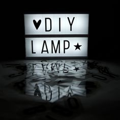 Lightbox . DIY Letter Lamp - Create Your Own Message / A5