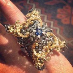 Humongous gorgeous Gothic Chic ring #Repost from @atelierminyon  #ringporn #ringtastic #ringenvy #ringlover #jewelleryporn #mrsortonsinstaglam