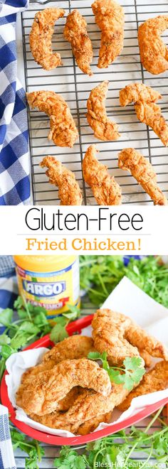 Gluten-Free Fried Chicken: Crispy Outside & Juicy Inside! The outer coating is a blend of Argo Corn Starch and cassava flour! Curry Recipes, Vegetarian Recipes, Entree Recipes, Recipes Dinner, Delicious Recipes, Gluten Free Fried Chicken, Fried Chicken Tenders, Chicken Tender Recipes, Nutritious Breakfast