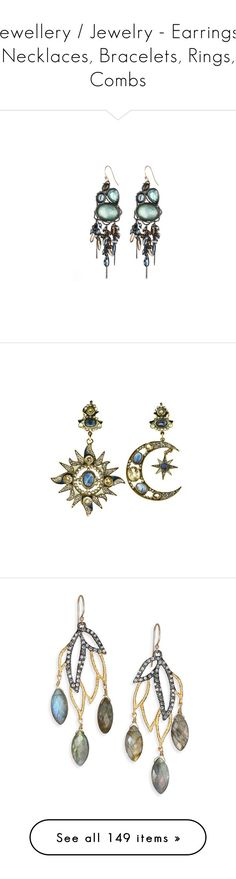 """Jewellery / Jewelry - Earrings, Necklaces, Bracelets, Rings, Combs"" by forget-this-life ❤ liked on Polyvore featuring jewelry, earrings, accessories, women, baroque jewelry, tourmaline earrings, baroque earrings, gun metal jewelry, earrings jewelry and jewels"
