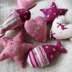 Handmade fabric christmas ornaments ... by crystalia