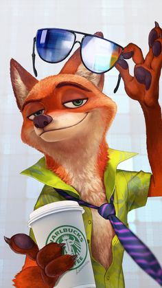 The name's Nick Wilde. I work alongside my partner Judy Hopps in Zootopia. __________________________________ This is a fan account involving the Disney movie Zootopia. Cute Disney, Disney Art, Disney Movies, Disney Characters, Zootopia Characters, Funny Disney, Disney And Dreamworks, Disney Pixar, Walt Disney