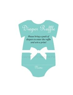 baby+shower+ideas+for+girls | DIY / Printable Baby Shower Diaper Raffle Tickets (for girls). Onesie ...