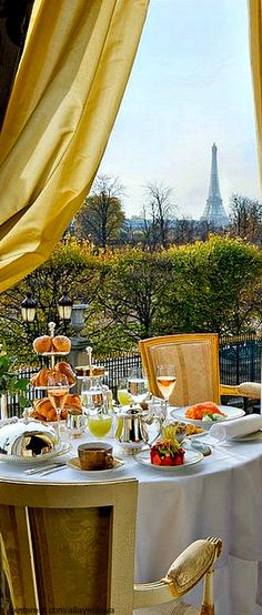 breakfast in Paris. #Luxurydotcom