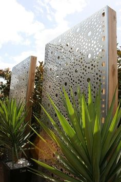 These gorgeous laser cut privacy screens create structure and visual appeal that accents landscaping. Wall Art Sculpture | The Block Shop:
