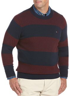 Tommy Hilfiger® Intrepid Stripe Crewneck Sweater