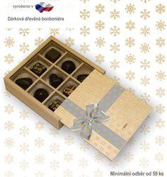 DŘEVĚNÁ KRABIČKA pralinky, Pralinky v dřevěné krabičče Decorative Boxes, Gift Wrapping, Gifts, Gift Wrapping Paper, Presents, Wrapping Gifts, Favors, Gift Packaging, Decorative Storage Boxes