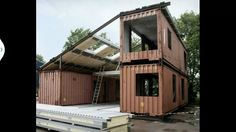 I've seen shipping container buildings before but not this configuration. So simple, so elegant!