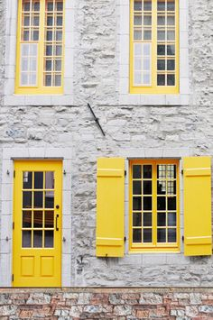 6259 Canary Yellow Door Open Shutter Window Backdrop