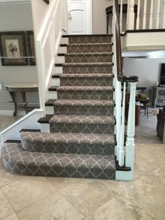 Taza carpet on this staircase from Tuftex Carpets of California