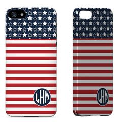 Stars & Stripes iPhone 4, iPhone 5, Samsung Galaxy S3 & S4 Snap On case
