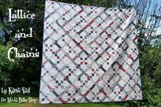 Lattice and Chains by Karin Vail.  Free pattern on Moda Bake Shop.  @modafabrics.