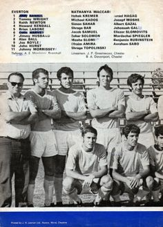 Everton v Nathanya Maccabi; August 9, 1971 match programme team sheet