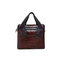 Alejandro Ingelmo Avenue ($499) ❤ liked on Polyvore featuring bags, handbags, shoulder bags, purses, сумки, accessories, t moro stamped croc, red leather tote, leather tote bags and zippered tote bag