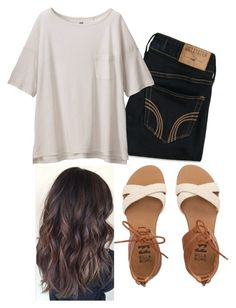 """""""Untitled #183"""" by tryn11 ❤ liked on Polyvore featuring Hollister Co., Billabong and Uniqlo"""