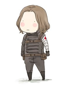 So cute! This is the best. bun, cute, gif, marvel, ponytail, sebastian stan, winter soldier, bucky barnes