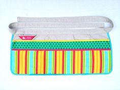 Ana White Work Apron stripes/green dots $30