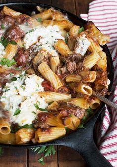 Baked Rigatoni with Slow-cooked Beef Brisket Ragu and Ricotta