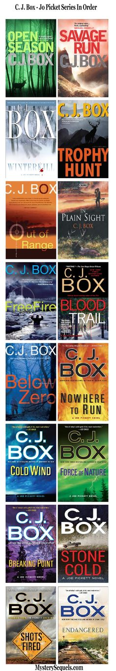 C. J. Box Joe Pickett crime series in order - books in order
