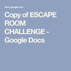 Children's Ministry ESCAPE ROOM CHALLENGE - Google Docs (best for older kids)