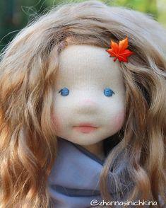 Красота ты моя осенняя😊🍁🍂🍁🍂🍁 #naturalfiberartdoll #waldorfinspireddoll #artdoll #slowdoll #коллекционнаякукла Long Silver Hair, Waldorf Toys, Handmade Dolls, Soft Dolls, Baby Dolls, Doll Clothes, Childhood, Fabric, Animals