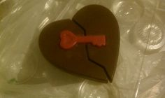 Key to my heart in chocolate
