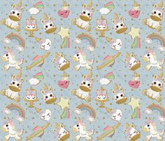 Unicorn Cookies! fabric by koko_bun on Spoonflower - custom fabric Cute Wallpaper Backgrounds, Cute Wallpapers, Dinosaur Fabric, Unicorn Cookies, Custom Fabric, Spoonflower, Fabric Design, Craft Projects, Clip Art