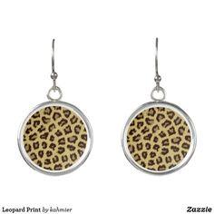Leopard Print Earrin