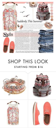 """""""Multicolor Floral Top - SHEIN"""" by natasa-topalovic ❤ liked on Polyvore featuring Aéropostale, Reef, Therapy and Deborah Lippmann"""