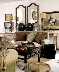 african living room decoration