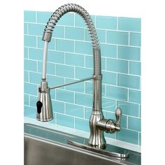 American Classic Modern Satin Nickel Spiral Pull-down Kitchen Faucet - Overstock Shopping - Great Deals on Kitchen Faucets