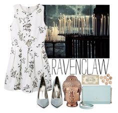 """""""Formal Wear #1 Ravenclaw"""" by leah1992 ❤ liked on Polyvore featuring Jeffrey Campbell, Abbyson Living, Kate Spade, hogwarts, formal, ravenclaw, magic and formalwear"""
