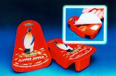 Danisco Flexible Colodense, of Bristol in the United Kingdom, has produced a cover peelable for a new food product, Penguin Flipper Dipper, developed by McVitie. Flipper Dipper is packaged in two compartments molded in a tray of polypropylene. Childhood Memories 90s, Childhood Toys, 90s Sweets, Discontinued Food, 90s Food, Uk Parties, 90s Nostalgia, 80s Kids, Dipper