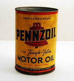 Vintage Pannzoil oil can - opened